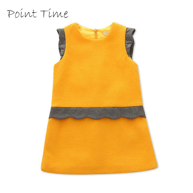 Cheap dress for toddler, Buy Quality dress girl directly from China dress girl fashion Suppliers: 2017 Autumn Winter Fashion Baby Girls Dresses Ruffle Sleevess Princess Dress for Toddler A-Line Cotton Solid Dress Girls Clothes