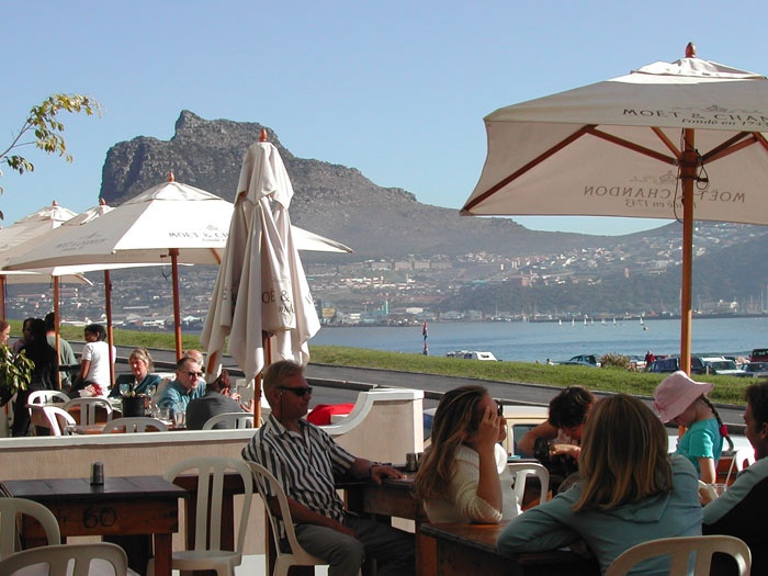 The only place to eat calamari! Chapmans Peak Hotel