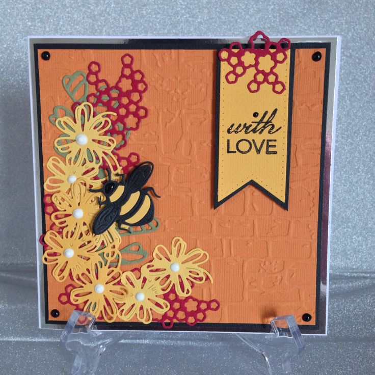 Tattered Lace Tuck ins, Bumble Bee, Tonic Studios flourishes, Nuvo drops, Tonic card
