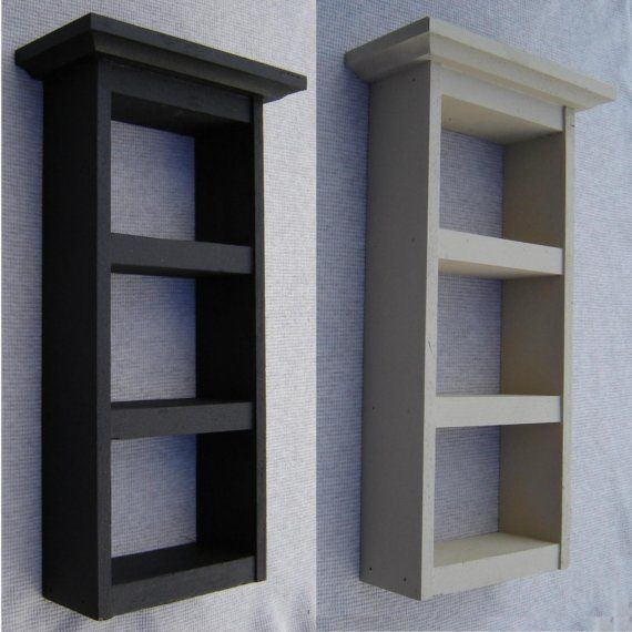 Small Wood Shelf,  Hand Painted Decorative Shelf