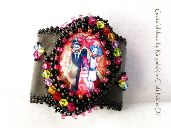 Boho cuff bracelet  unique limited edition by CraftNicheDili