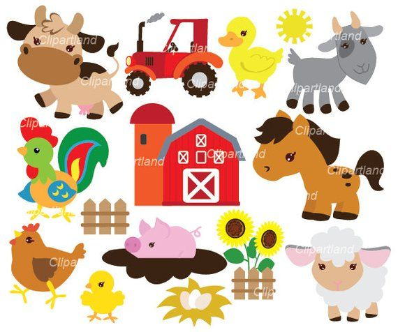 Instant Download Farm Animals Clip Art Cf 49 Personal And Commercial Use Clip Art Farm Animals Etsy Banner