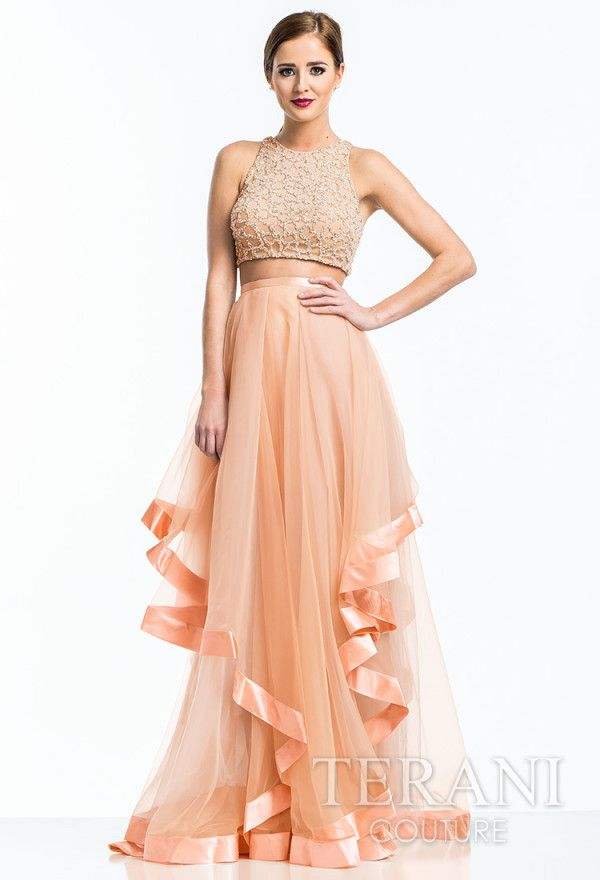 wedding ideas with tulle 25 best two crop top prom dresses images on 27944