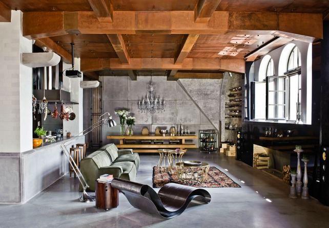 Budapesti loft - látványos és eklektikus lakberendezési ötletekkel