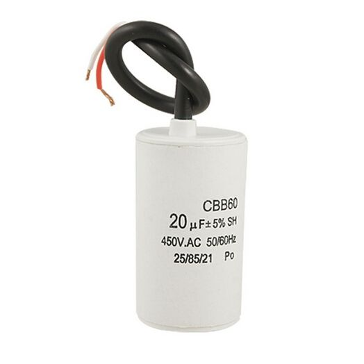 New CBB60 20uF Wire Lead Cylinder Motor Run SH Capacitor AC 450V  8Z562
