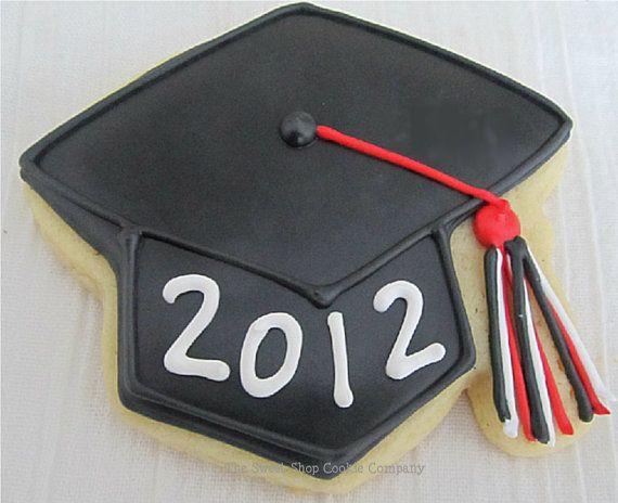Grad Cap Cookies 2 dozen by TheSweetShopCookieCo on Etsy, $47.90