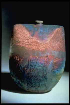 Ceramics by Peter Hayes at Studiopottery.co.uk - Raku Bottle Form,