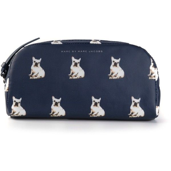 MARC BY MARC JACOBS dog print wash bag found on Polyvore