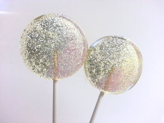 Champagne Wedding Favor Lollipops Light by SweetCarolineConfect