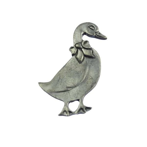 Large Pewter Duck Brooch