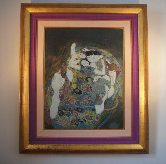 Klimt's The Maiden / Die Jungfrau made with natural Gemstones.