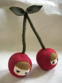 Adorable plushie cherries