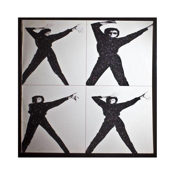 Glittered Michael Jackson Bad Album by michel328 on Etsy, $95.00