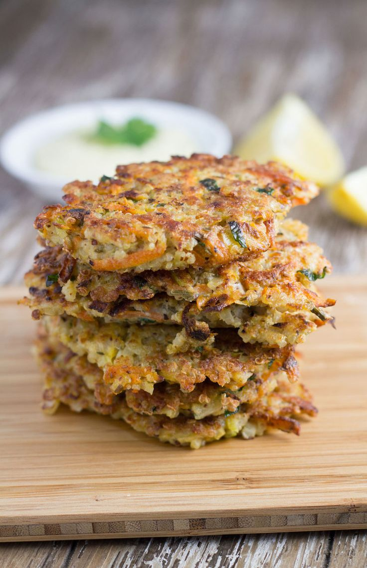 Quinoa Fritters With Garlic Aioli (substitute with potatoes - try sweet potatoes/yams)