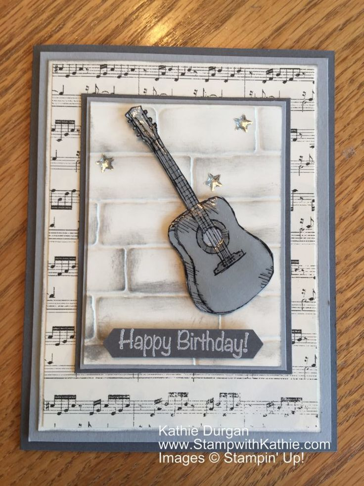 Pinterest Card Making Ideas Part - 47: Stampin Up Country Living, Music Notes Background Stamp, Masculine. Find  This Pin And More On Card Making Ideas ...
