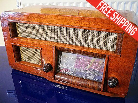 1941 Antique Radio Zenith Radio Corp Model by TheBlackHatDesign