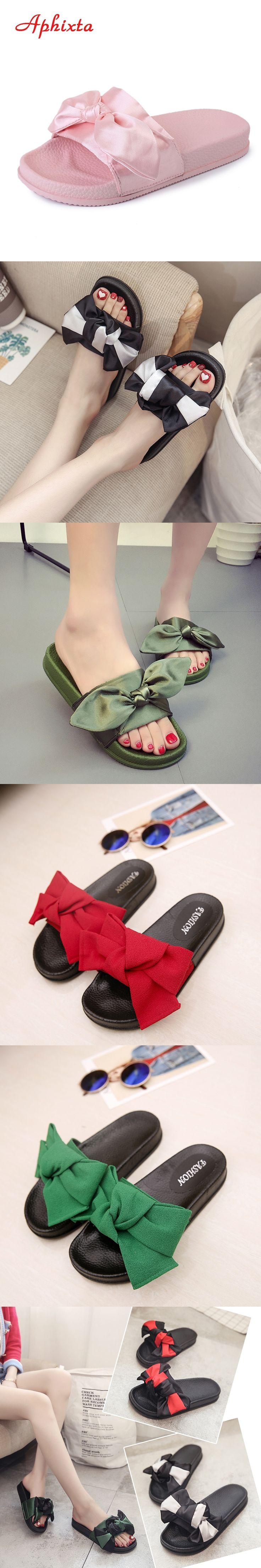 New Butterfly Decoration Women Summer Beach Slide Silk Fabrics Flat Heels Slipper Shoes Woman Rihanna Shoes Bohemia Beach Shoes
