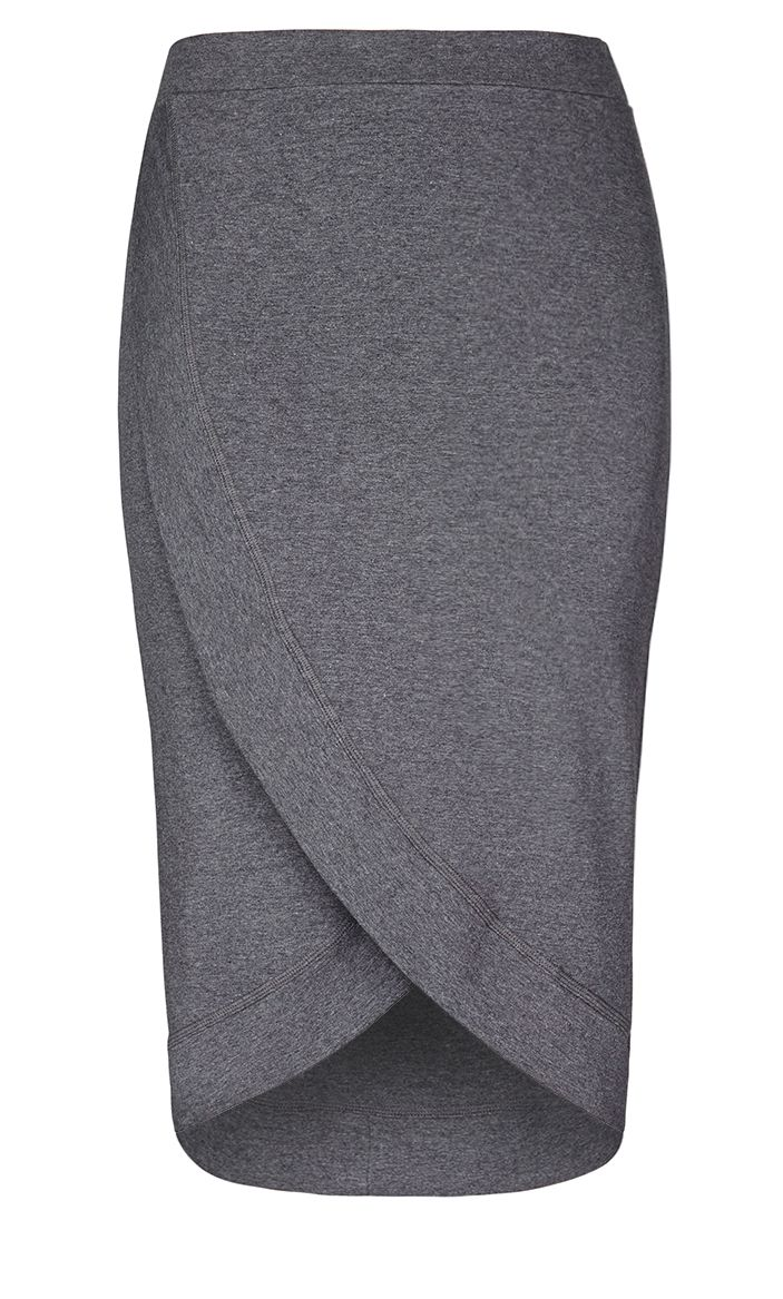 City Chic - COOL WRAP SKIRT  - Women's Plus Size Fashion