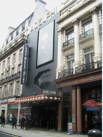 Adelphi Theatre, Strand  -I want to see a show, really any show, in London. It could be anywhere, not the Adelphi Theater specifically. I would love to see The Book of Mormon or Kinky Boots, or really even Elf, The Musical.