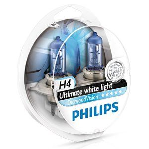 Philips Lot de 2 ampoules de phare H4 Diamond Vision: L'équivalent le plus proche de HID Xenon, ampoules Philips Diamond Vision offre une…
