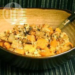 Komosa ryżowa z pieczarkami i batatami