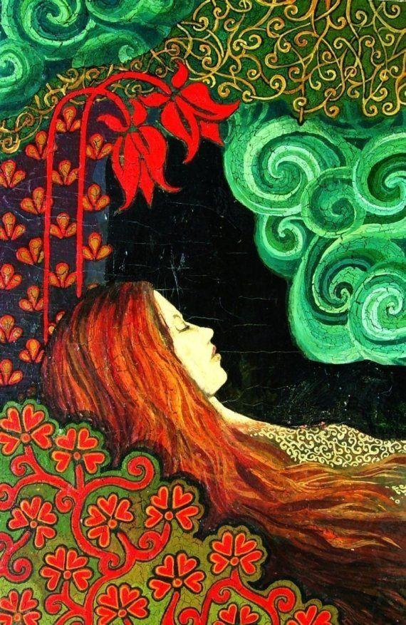 Love this... Sleeping Lady Art Deco Goddess Large Print by EmilyBalivet on Etsy, $23.00