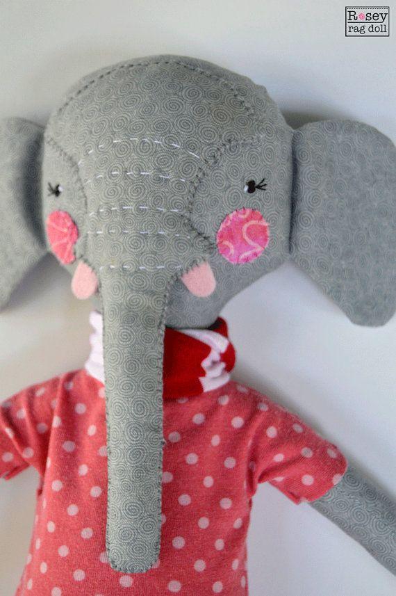 elephant rag doll: Elsie Peanut rosey rag doll by roseyragdoll