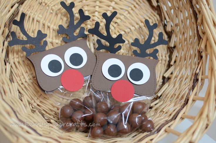 Reindeer Poop - malted milk balls and the Top Note die. Cute!