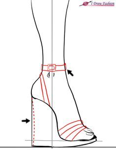 how to draw shoes on people