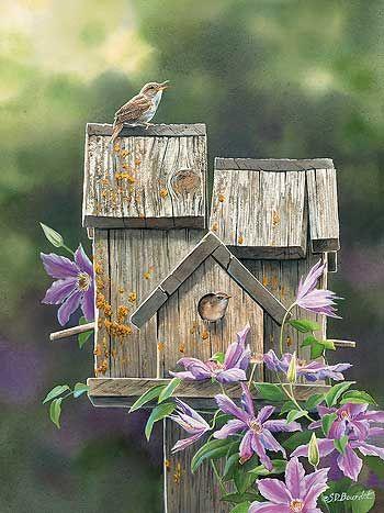 Susan+Bourdet+Oil+Painting+Artist | Dream House-Wren Art Print by Susan Bourdet | Wild Wings