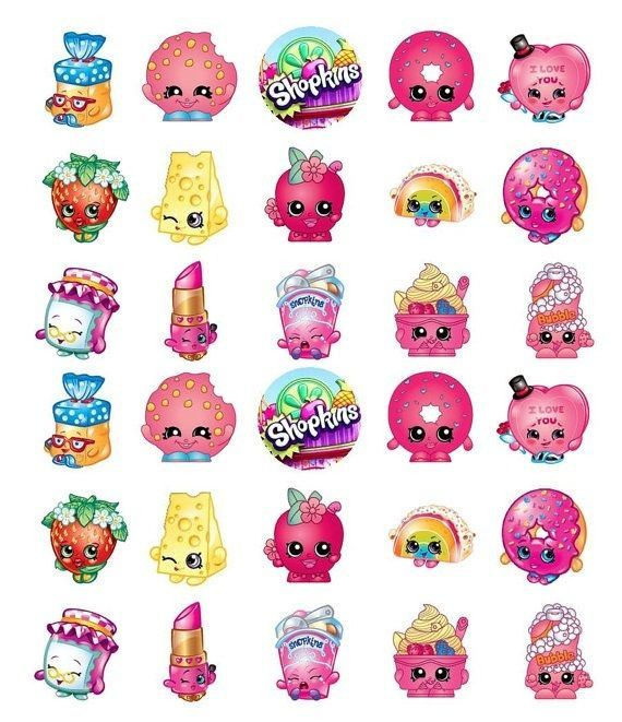 EDIBLE IMAGE---30 SHOPKINS CUPCAKE & CAKE TOPPERS THIS IMAGE IS PRINTED ON EDIBLE RICE PAPER AND IS READY TO PLACE ON CUPCAKES or CAKES THAT YOU MAKE!! MAKE THE CUPCAKES PERFECT WITH THIS IMAGE ON TOP