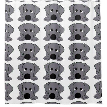 peeking wimaraner silver gray shower curtain - shower gifts diy customize creative
