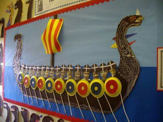how to make a viking ship ks2
