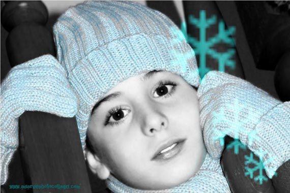 Ideas para retocar fotos infantiles con motivos navideños | Adarve Photocollage