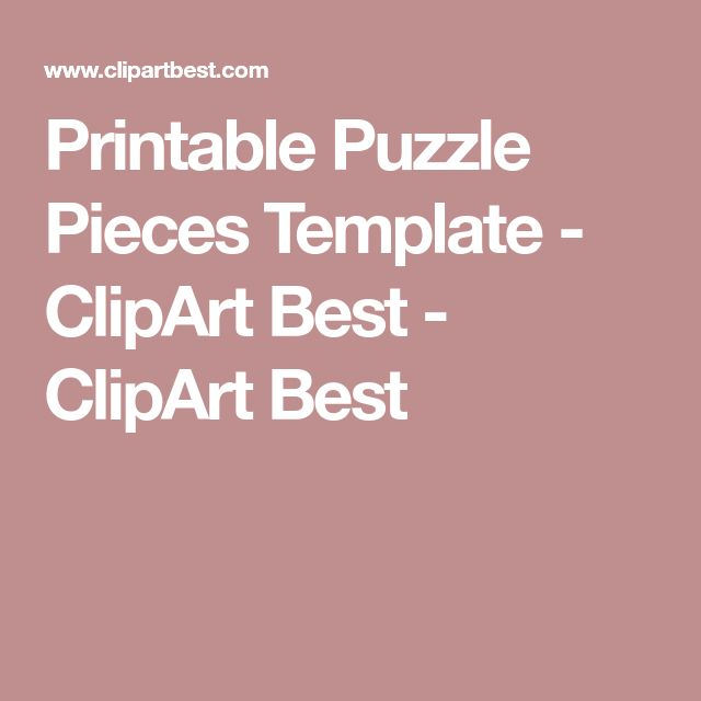 Best 25+ Puzzle piece template ideas on Pinterest Puzzel games - puzzle piece template