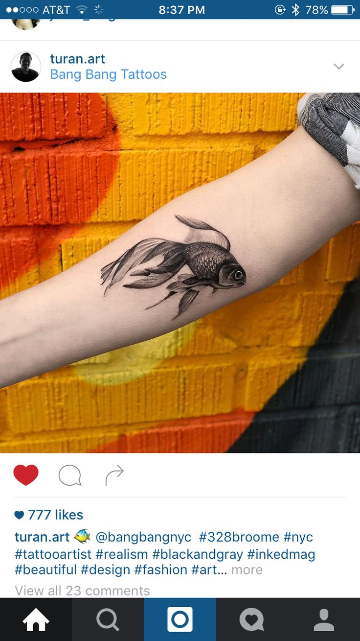 More goldfish tattoos