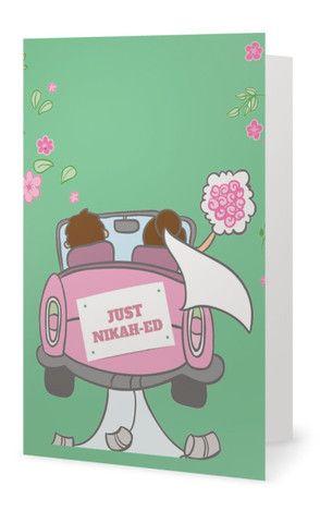 """Just Nikah-ed"" Muslim Wedding Card"