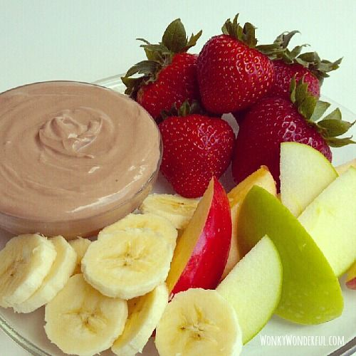 Creamy Nutella Fruit Dip - WonkyWonderful
