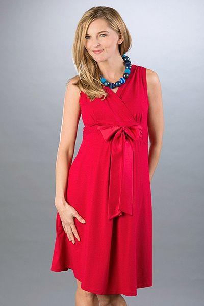 Sukienka Lauren red # 36 Piekna Mama
