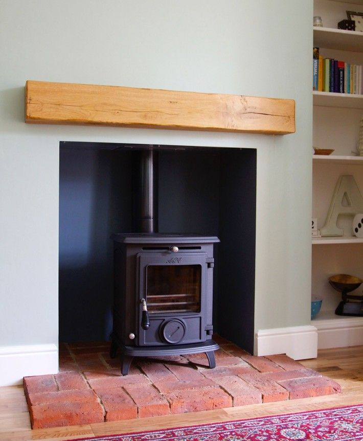 Aga Wood Burning Stove Installed On Brick Hearth Fireplaces Pinterest Hearth Bricks And