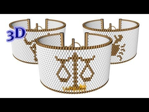 Beaded Bracelet Zodiac. 3D Beading Tutorial - YouTube
