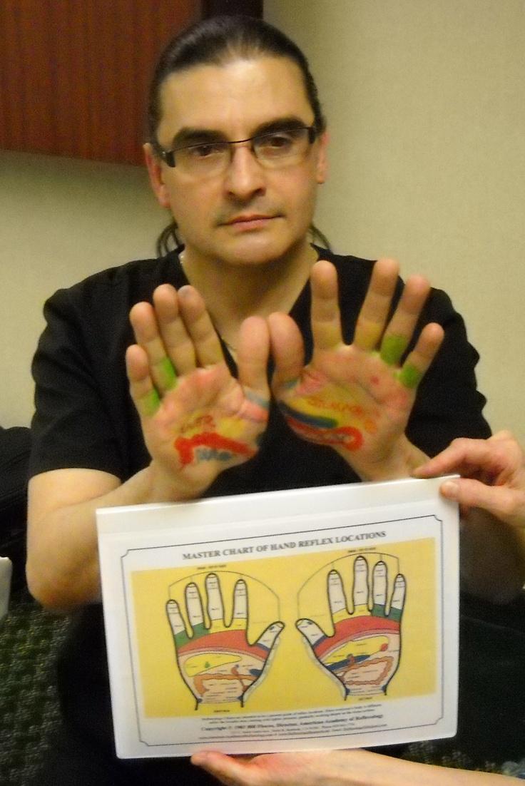 Hand Reflexology Learning Hand Reflexology Chart Locations. www.AmericanAcademyofReflexology.com