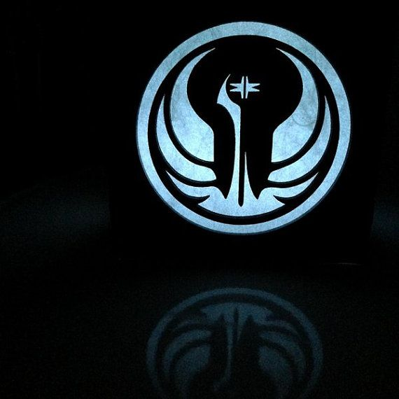 Star Wars Galactic Republic symbol light box  4.5 by BurntPixels
