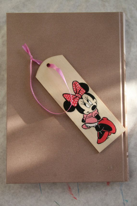 Minnie Mouse Wood Bookmark. by FennekArtDesign on Etsy