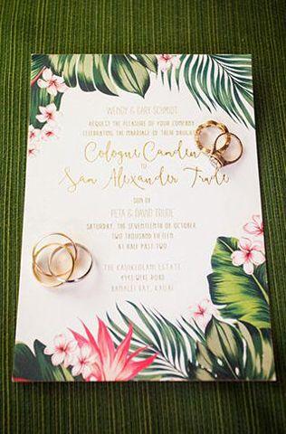 Тренды 2016 года: зеленые листья, пальмы и тропики, приглашение на свадьбу - The-wedding.ru