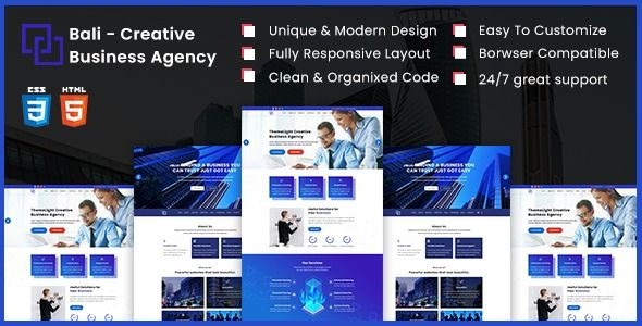 Bali Creative Business Agency Html5 Template Best