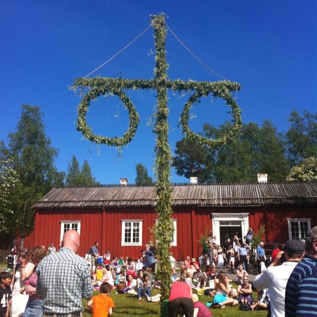 Midsummer in Sweden. At Gammlia, Umeå, Västerbotten.