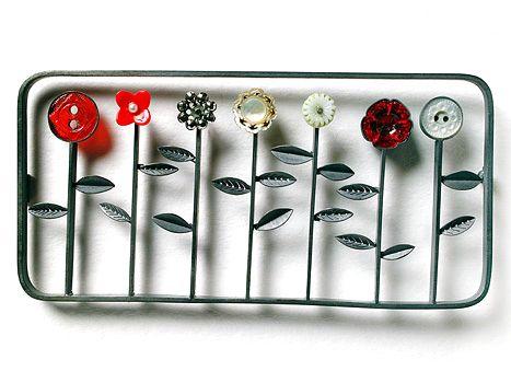 Grainne Morton : Row of Flowers Brooch