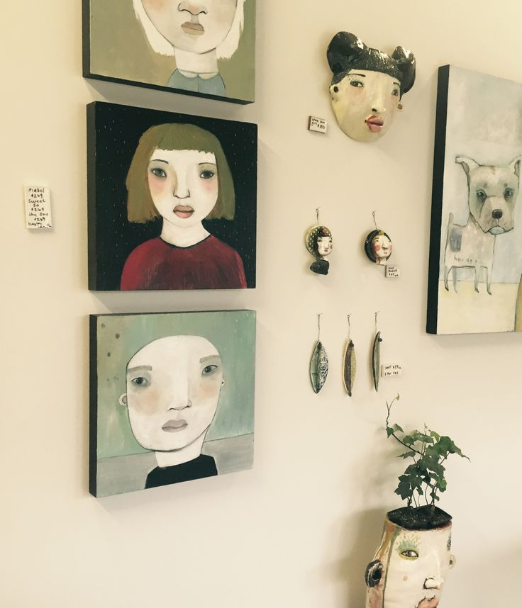 paintings and ceramics by hayley hamilton