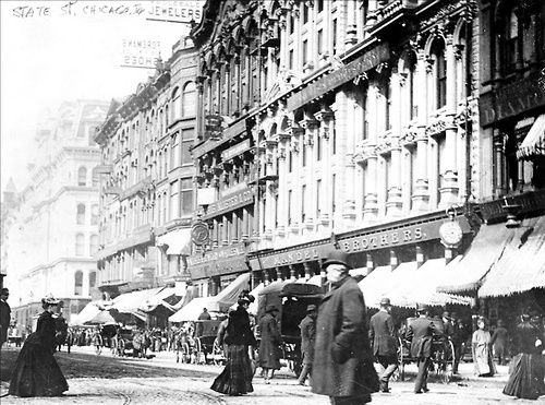 State Street, 1890, Chicago. My grandfather was only 7 when this was taken. He was a first generation American and born in a predominantly German neighborhood in Chicago and I think of him when I see old photos of Chicago.